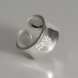 Originale anello in argento firmato Richiamo Degli Angeli modello Chiama Amore