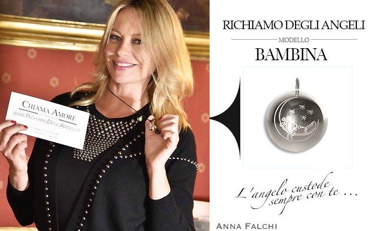 La Vip Anna Falchi indossa Collana originale Richiamo Degli Angeli durante Festival del Cinema di Roma.