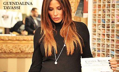 La Vip Guendalina Tavassi indossa Collana originale Richiamo Degli Angeli in dolce attesa durante Festival del Cinema di Roma.