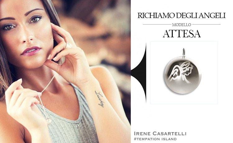 La Vip Irene Casartelli di Temptation Island indossa Collana originale Richiamo Degli Angeli modello Attesa