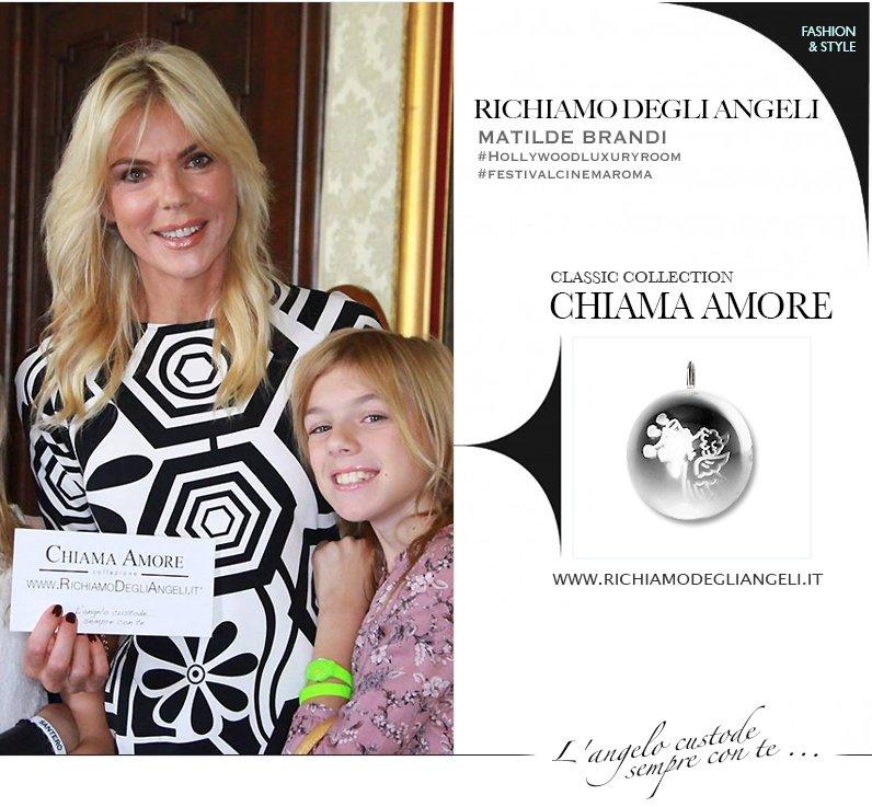 La Vip Matilde Brandi indossa Collana originale Richiamo Degli Angeli durante Festival del Cinema di Roma.
