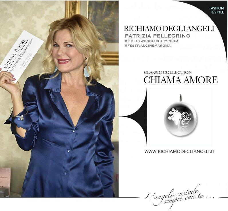 La Vip Patrizia Pellegrino indossa bracciale originale Richiamo Degli Angeli durante Festival del Cinema di Roma.