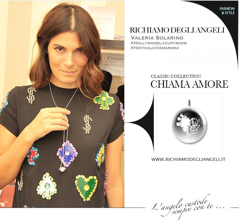 La Vip Valeria Solarino indossa Collana originale Richiamo Degli Angeli durante Festival del Cinema di Roma.
