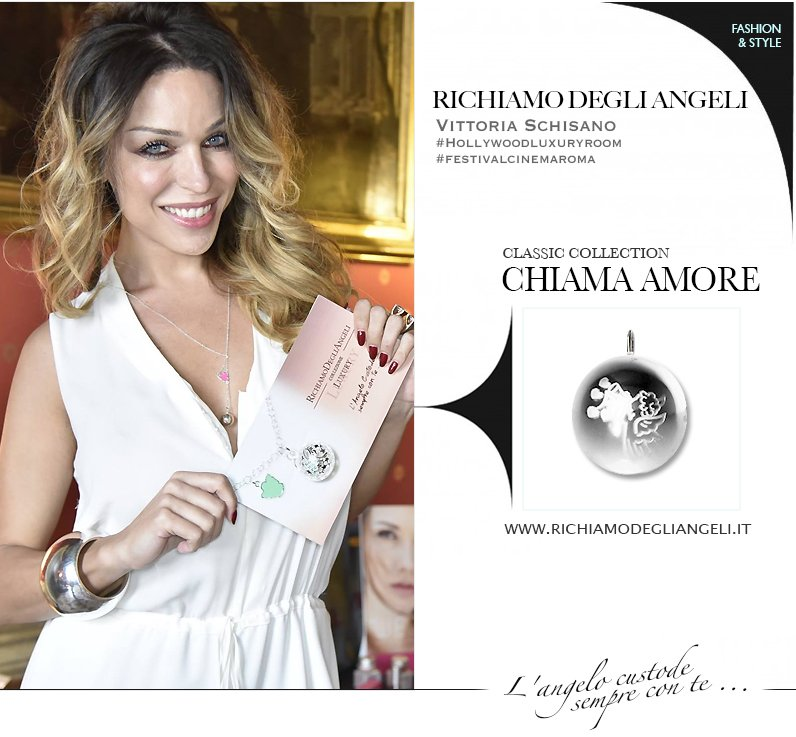 La Vip Vittoria Shisano indossa Collana originale Richiamo Degli Angeli durante Festival del Cinema di Roma.
