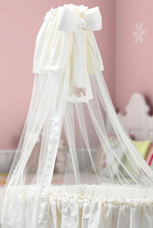 Fiocco per culla chiama angeli bambina regalo perfetto per nascita di una bambina o regalo originale per battesimo con possibilità di incisione del nome o della data di nascita della bambina.