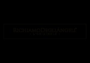 logo originale del marchio registrato Richiamo Degli Angeli originale brand Toscano di chiama angeli in argento Made in Italy