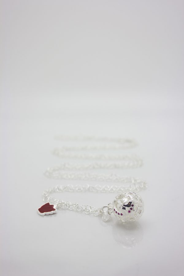 collana chiama angeli in argento con zirconi collezione Luxury modello Dolce Luna idea regalo primi mesi di gravidanza