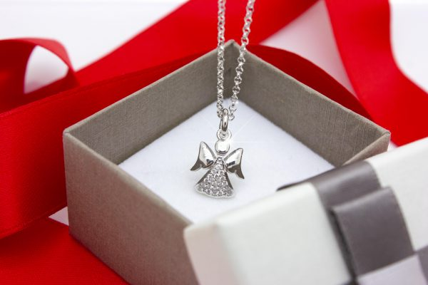 ciondolo angelo custode argento 925