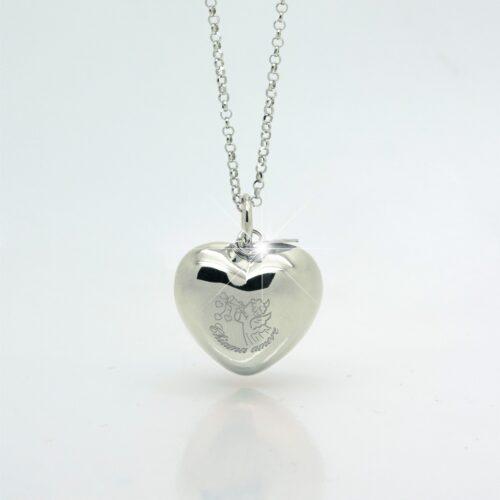 Chiama amore ciondolo argento