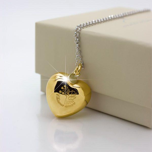 ciondolo chiama amore in oro giallo